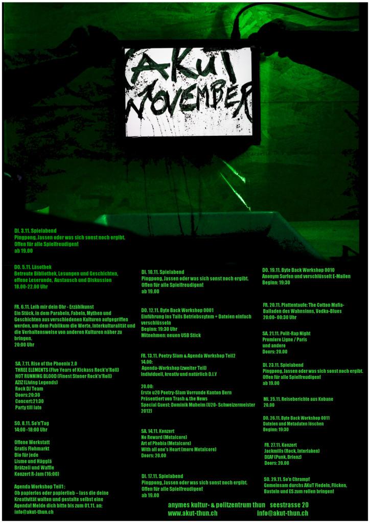 Monatsprogramm November 2015